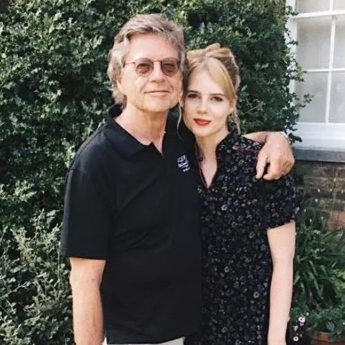 Lucy Boynton with father