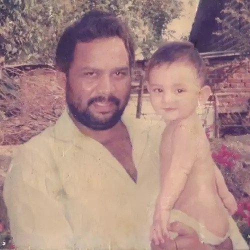 Delzad Hiwale with Father